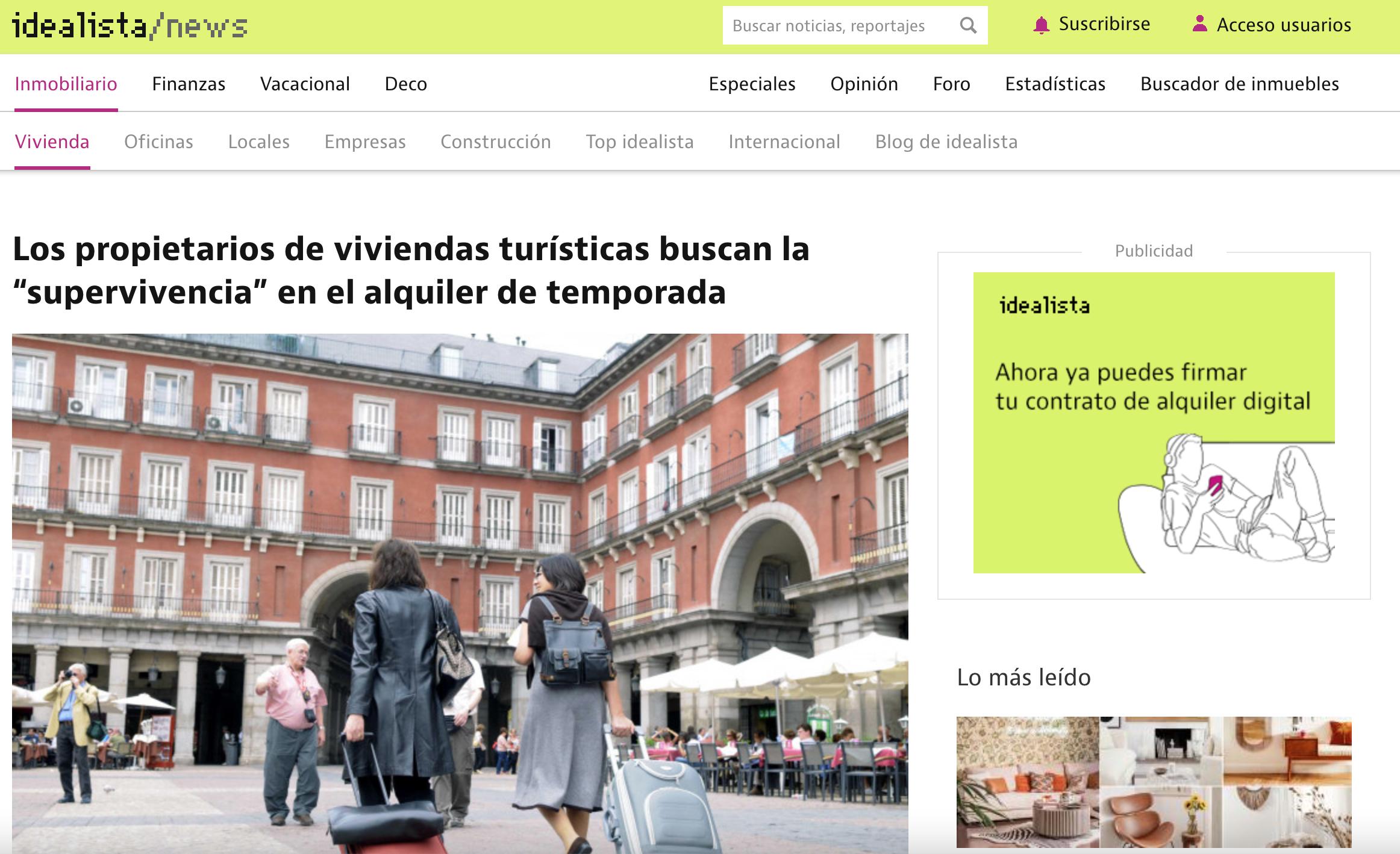 Idealista MyRentalHost Prensa